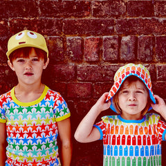 Stand out from the crowd in Boys&Girls rainbow brights at Small to TALL