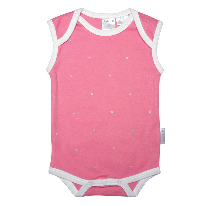 The Cirkel Singlet Bodysuit in Pink