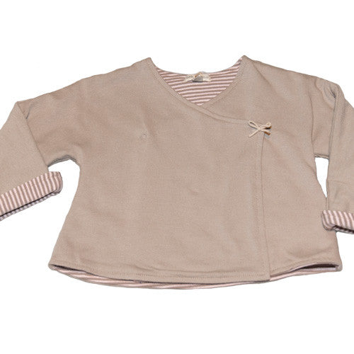 Sage Stripes Baby Wrap Jacket at Small to TALL