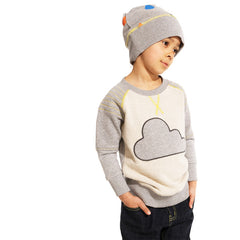 The cloud applique crew by Boys&Girls available at Small to TALL