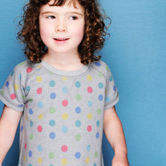 Dotty Dress by London kids' clothing label Boys&Girls at Small to TALL