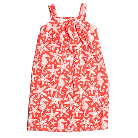 Halter Dress - Coral Starfish