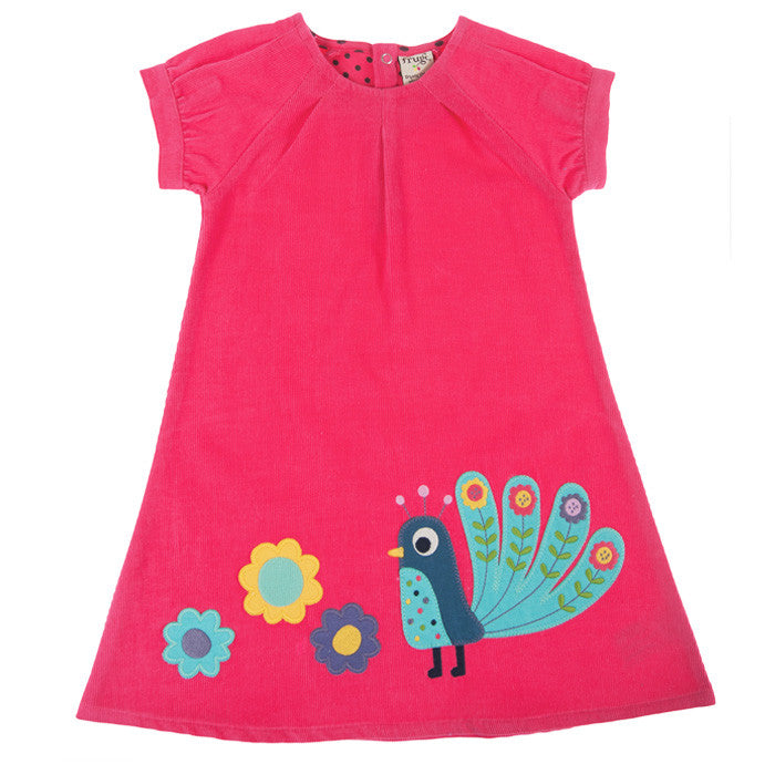 The Frugi Raspberry Cord Dress available at Small to TALL