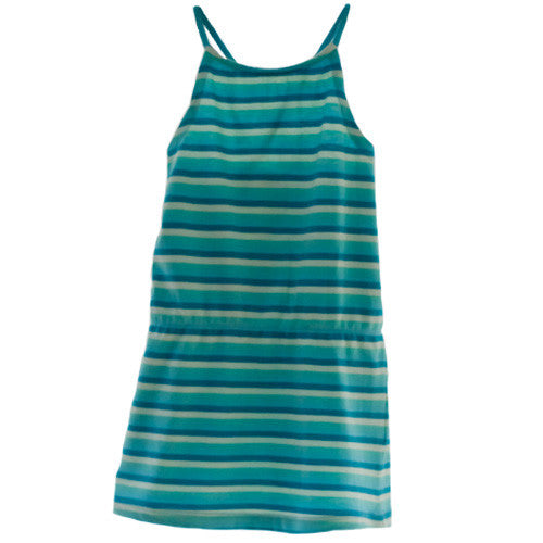 Aqua stripe sundress at Small to TALL