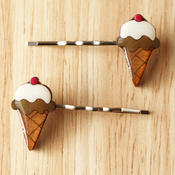 Chocolate Ice Cream Hairclips by Bok Bok B'Gerk at Small to TALL