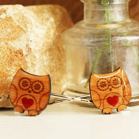 Owl Hairclips