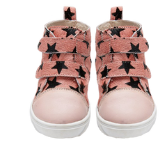 Love Luck & Wonder's Pink Star Toddler Hi Tops available at Small to TALL