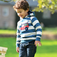 The Frugi Highland Hoodie available at Small to TALL