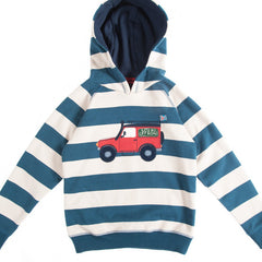 Frugi Highland Hoodie available at Small to TALL