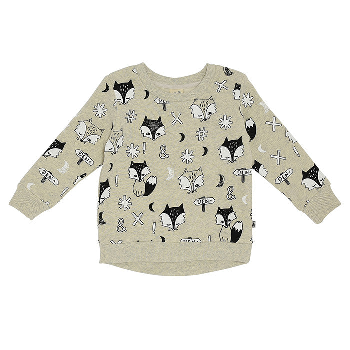 The Milk and Masuki Fox Dreaming Jumper available at Small to TALL