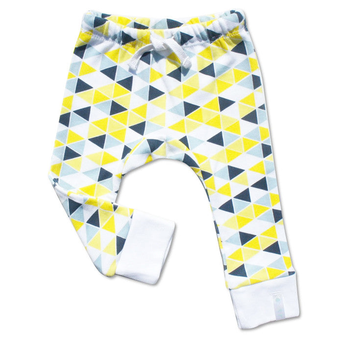 Flag baby leggings in yellow and navy by Anarkid Organic at Small to TALL