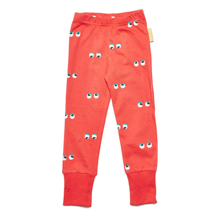 Unisex organic cotton eyes design leggings by Boys&Girls for boys and girls at Small to TALL