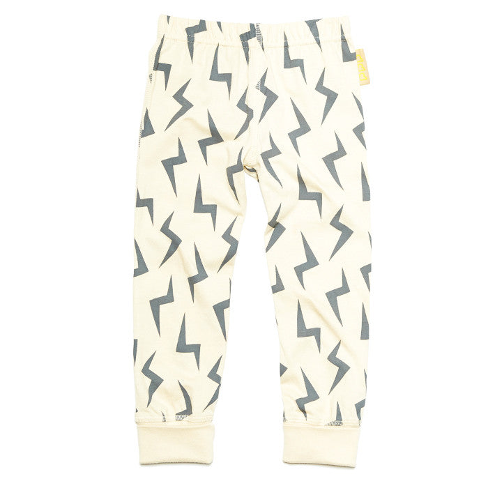 Oatmeal lightning leggings by London kids' label Boys&Girls available at Small to TALL