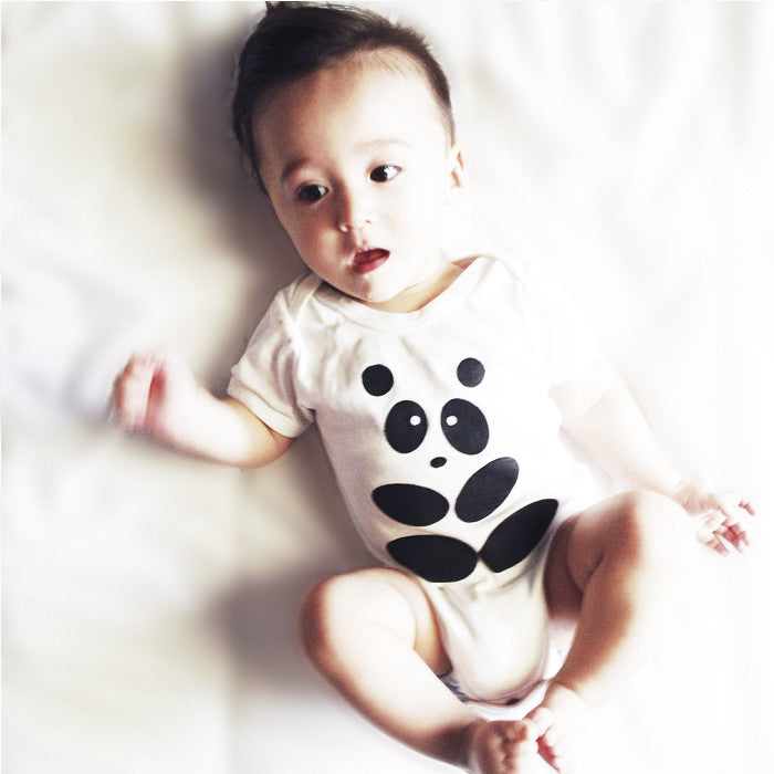 The Inkibabinki Organic Panda Onesie available at Small to TALL