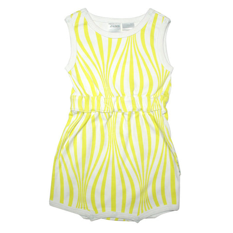 Ballon Playsuit in Lime Stripe