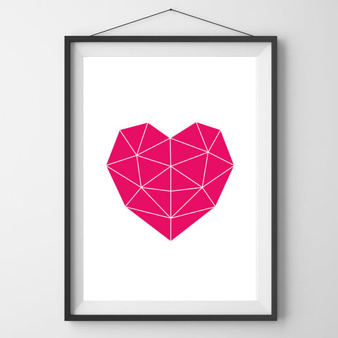 Anarkid Ruby Geo Heart Print