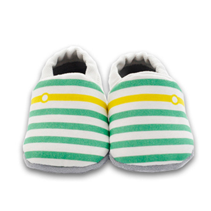 Soft sole first walkers in a gorgeous sunny unisex design.