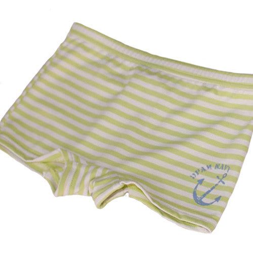 Green stripe swim trunks by Small to TALL