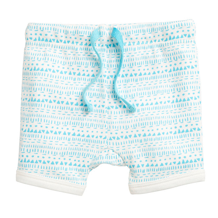 Little Ink Dot 100% cotton baby shorts by Wilson & Frenchy at Small to TALL