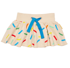 The Boys&Girls sprinkle skirt is made from 100% GOTS certified organic cotton.