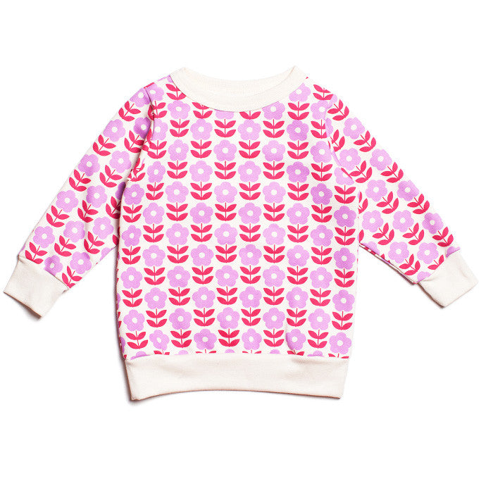 The Danish Flowers Sweatshirt by Winter Water Factory at Small to TALL