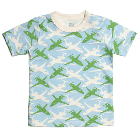 Blue & Green Airplanes Tee