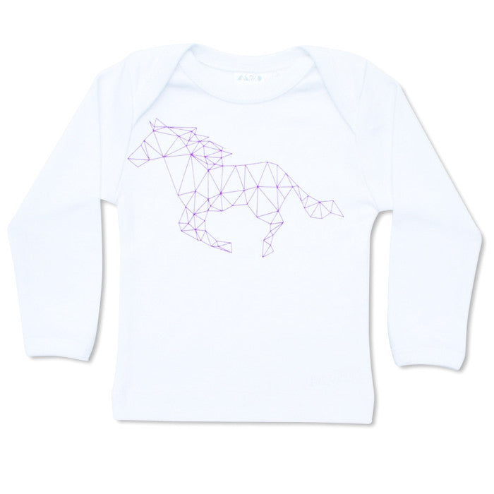 Lasso Long Sleeve Tee in Purple