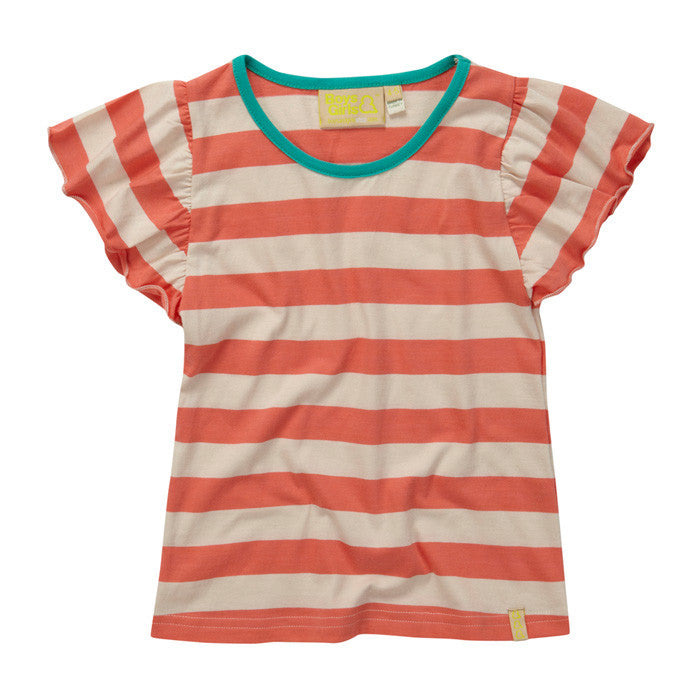 Watermelon Stripe Butterfly Tee from London kids' clothing label Boys&Girls at Small to TALL