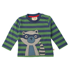 Baby Raccoon Tee by Frugi at Small to TALL