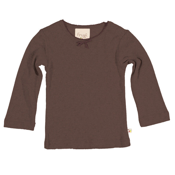 Chocolate Pointelle Top by Frugi at Small to TALL
