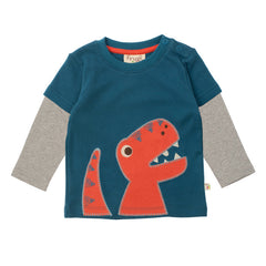 Dino Baby Tee by Frugi at Small to TALL