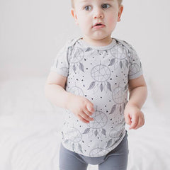 Joeyjellybean's dream catcher baby tee has an envelope neck for easy dressing