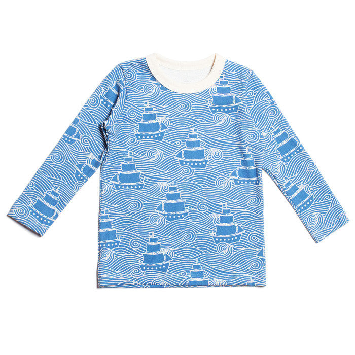 The high seas print long sleeve top by Winter Water Factory available at Small to TALL