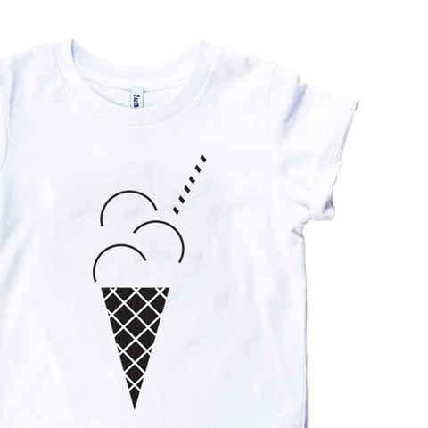Inkibabinki Ice Cream Short Sleeve Tee (White)