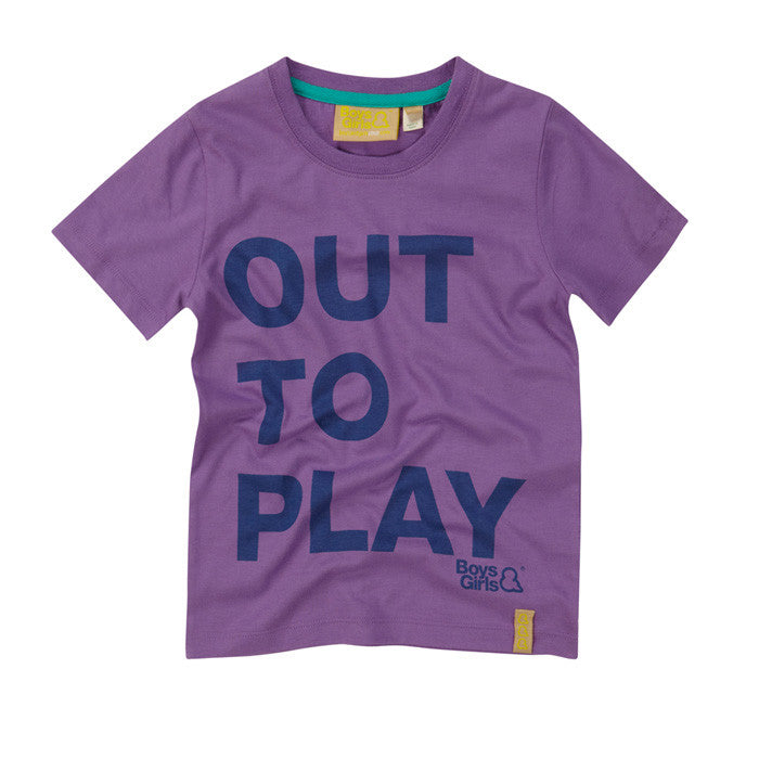 The Boys&Girls unisex Out to Play short sleeve tee in purple