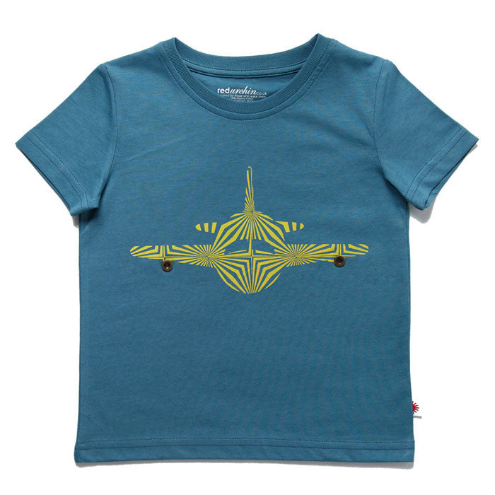 Aeroplane Tee by London kids' label redurchin at Small to TALL