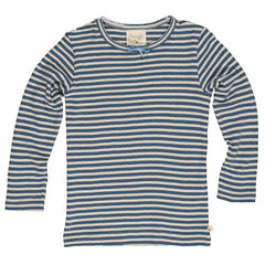 Sailor Blue Stripe Pointelle Top by Frugi at Small to TALL