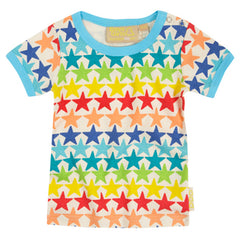 Rainbow Stars Tee by London kids' clothing label Boys&Girls at Small to TALL