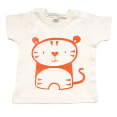 Tiny Tiger Tee hand printed by UK designer Nell for Small to TALL