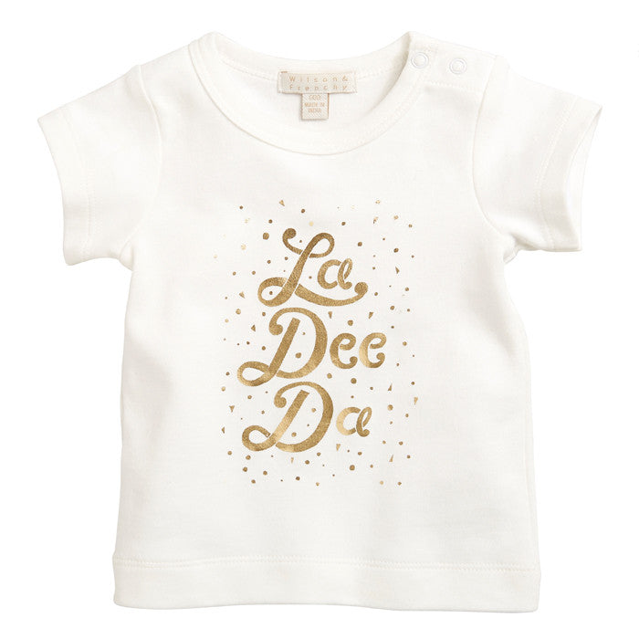 The La Dee Dah Baby Tee by Wilson & Frenchy at Small to TALL