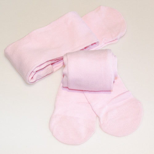 Soft Pink Winter Tights at Small to TALL