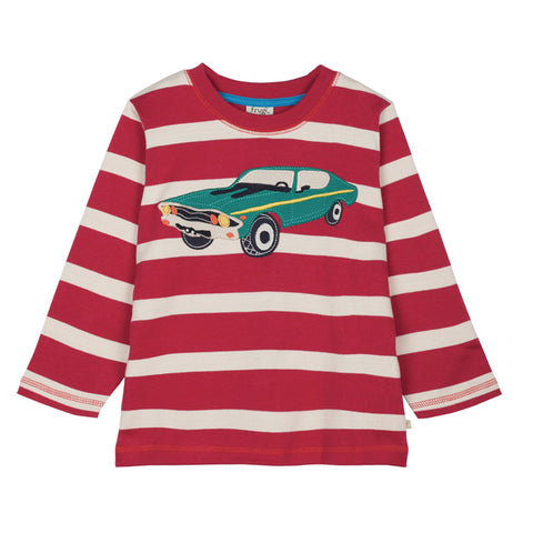 Brick Red Car Applique Top