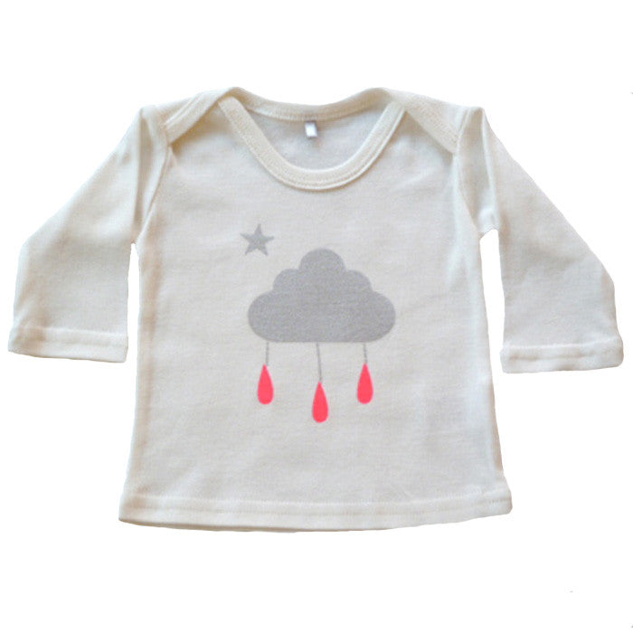 The Pink Clouds Baby Top by Australian baby label Little Caravan at Small to TALL