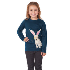 The Eliza Hare applique long sleeved top by Frugi at Small to TALL