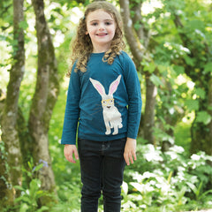 The Eliza Hare applique top is made from 100% organic cotton