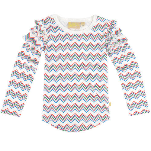 Frill Chevron Top from London kids' clothing label Boys&Girls at Small to TALL