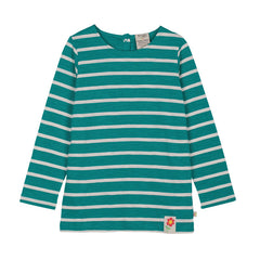 The Helford Blue Breton Stripe long sleeve top is a classic but relaxed style