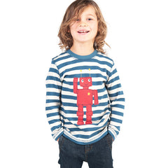 Frugi Discovery Robot Applique Top available at Small to TALL