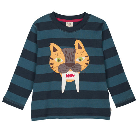 Tiger Stripe Applique Top