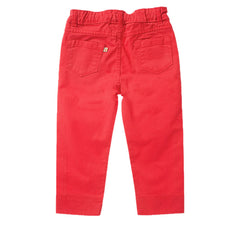 Red capri trousers by UK kids' label Frugi available at Small to TALL